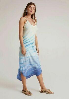 Fray Bias Slip Dress -Sea Spray