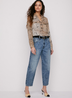 Kaine Cropped Military Shirt