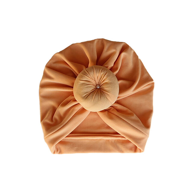Light Orange Turban with front Knot