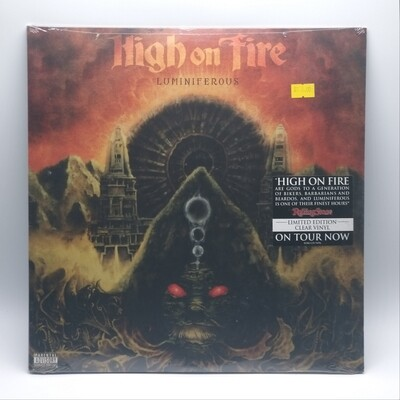 HIGH ON FIRE -LUMINIFEROUS- 2XLP (CLEAR VINYL)
