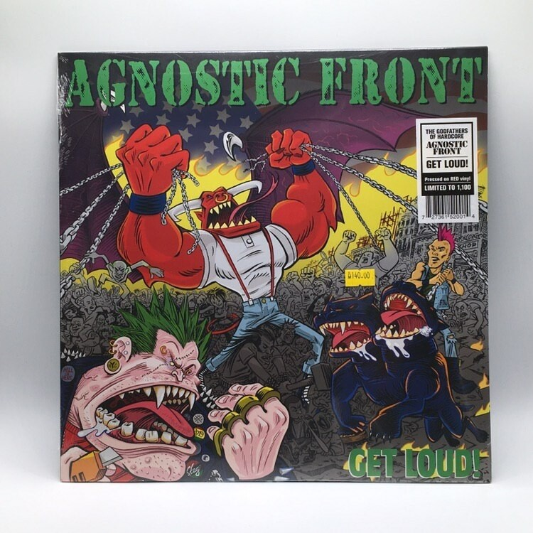 AGNOSTIC FRONT -GET LOUD!- LP (RED VINYL)