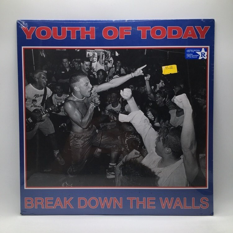 YOUTH OF TODAY -BREAKDOWN THE WALL- LP (COLOR VINYL)