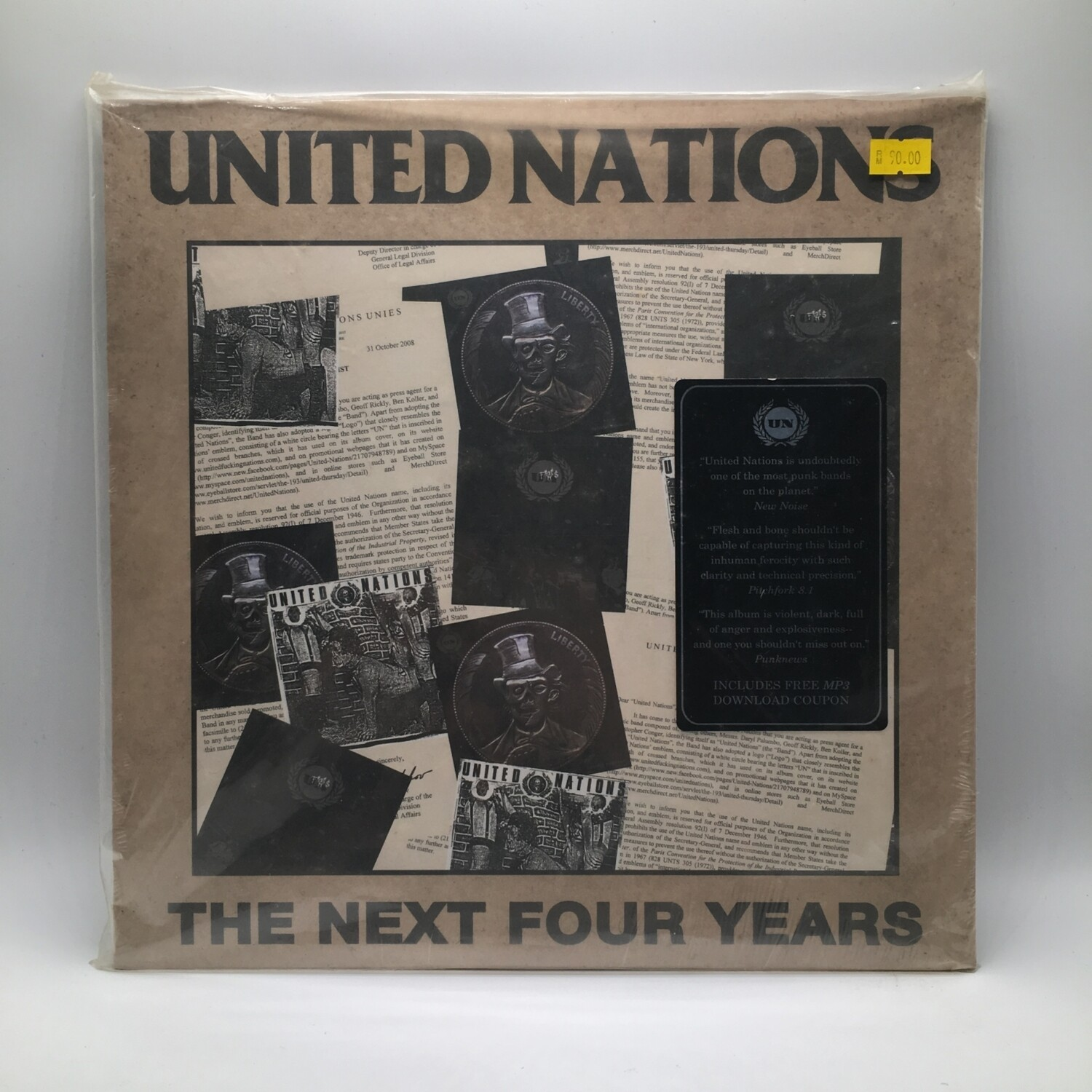UNITED NATION -THE NEXT FOUR YEARS- LP + 7 INCH