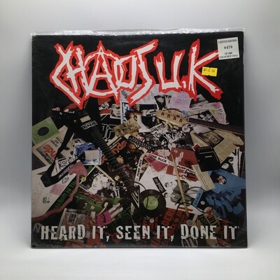 CHAOS UK -HEARD IT, SEEN IT, DONE IT- LP (COLOR VINYL)