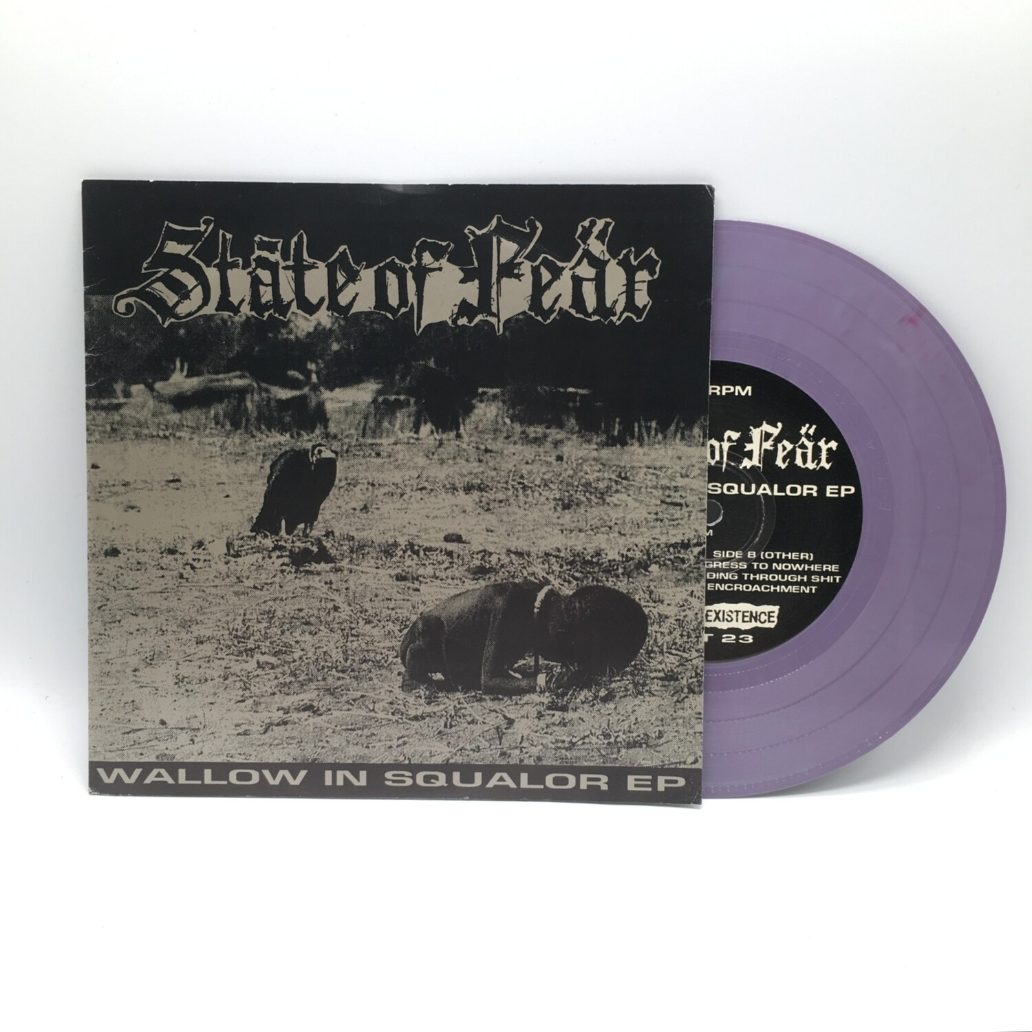 STATE OF FEAR -WALLOW IN SQUALOR- 7 INCH (COLOR VINYL)