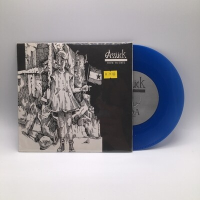 ASSUCK -STATE TO STATE- 7 INCH (BLUE VINYL)