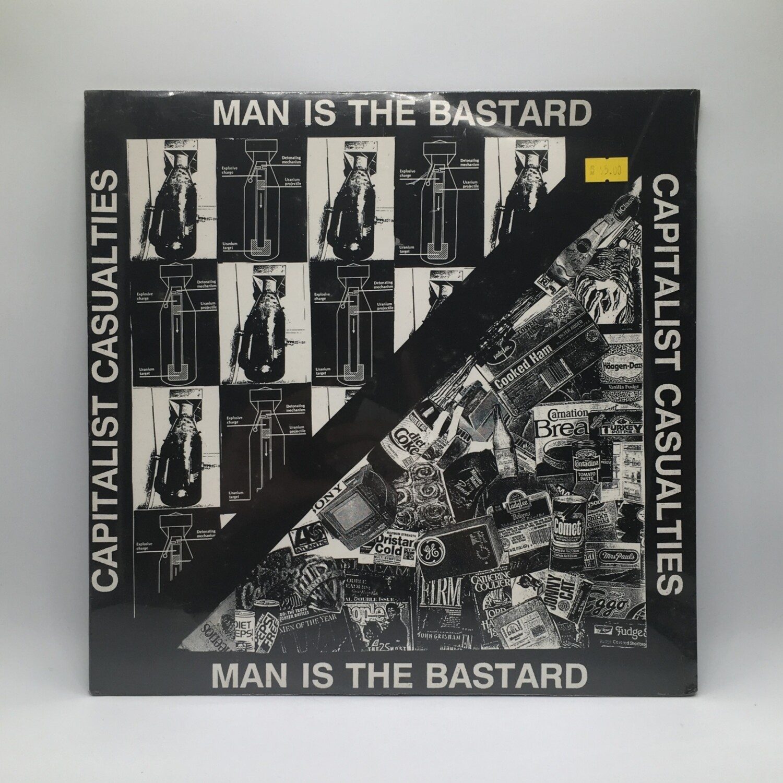 MAN IS THE BASTARD / CAPITALIST CASUALTIES -SPLIT- LP