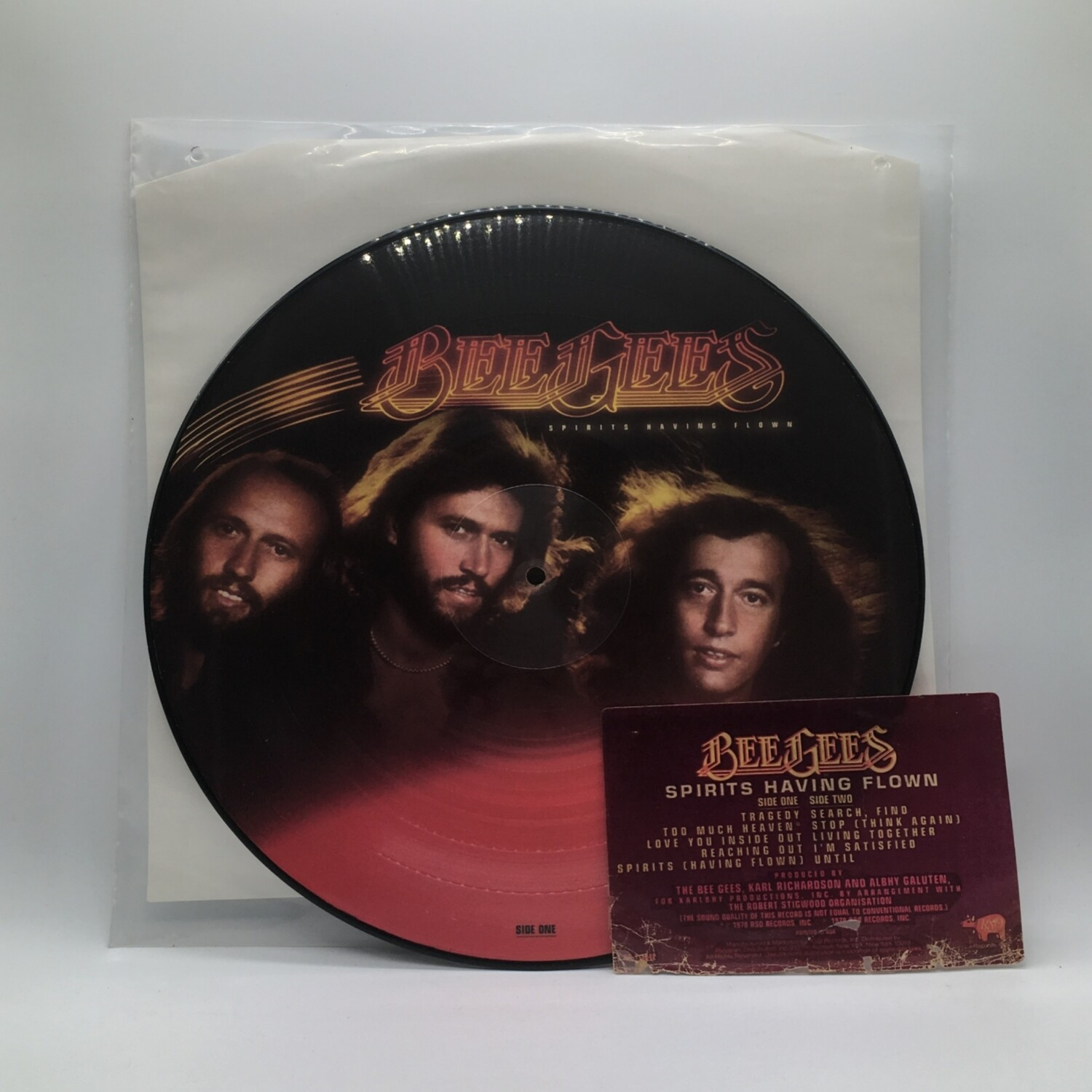 BEE GEES -SPIRITS HAVING FLOWN- LP (PIC LP)
