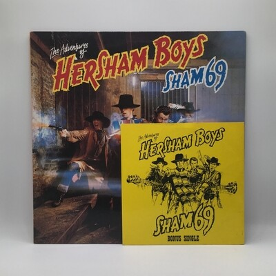 SHAM 69 -THE ADVENTURE OF HERSHAM BOYS- LP + 7 INCH