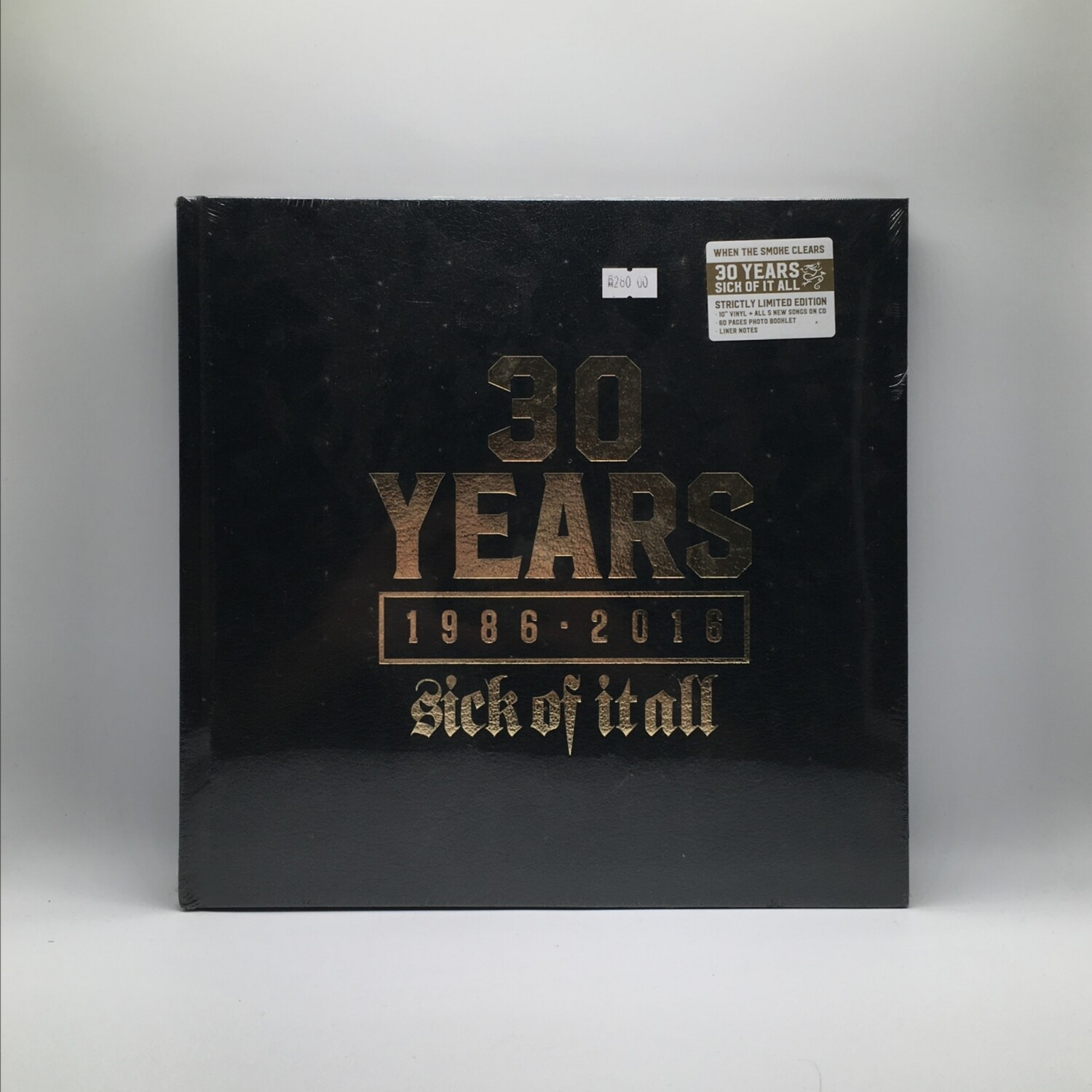 SICK OF IT ALL -WHEN COME SMOKE CLEAR: 30 YEARS(1986-2016)- 10 INCH EP + CD + PHOTOBOOK