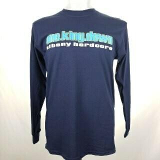 ONE KING DOWN -ALBANY HARDCORE(LONG SLEEVE)- (NAVY BLUE)