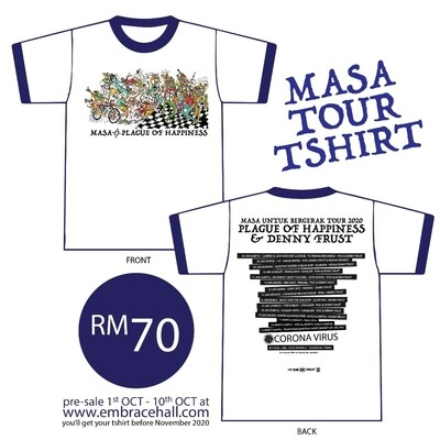 [PRE ORDER] PLAGUE OF HAPPINESS -MASA TOUR- RINGGER TSHIRT