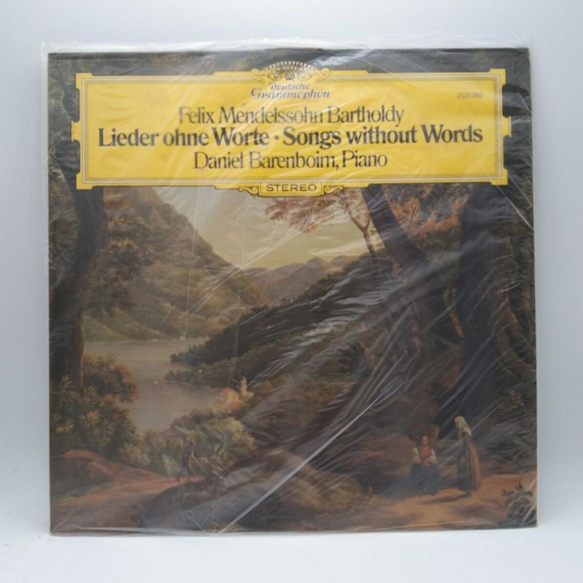 [USED] FELIX MENDELSSOHN BARTHOLDY•DANIEL BARENBOIM  -LIEDER OHNE WORTE=SONGS WITHOUT WORDS- LP