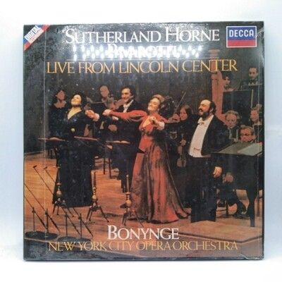 [USED] SUTHERLAND•HORNE•PAVAROTTI•BONYNGE•NEW YORK CITY OPERA ORCHESTRA -LIVE FROM LINCOLN CENTER- 2xLP (BOXSET)