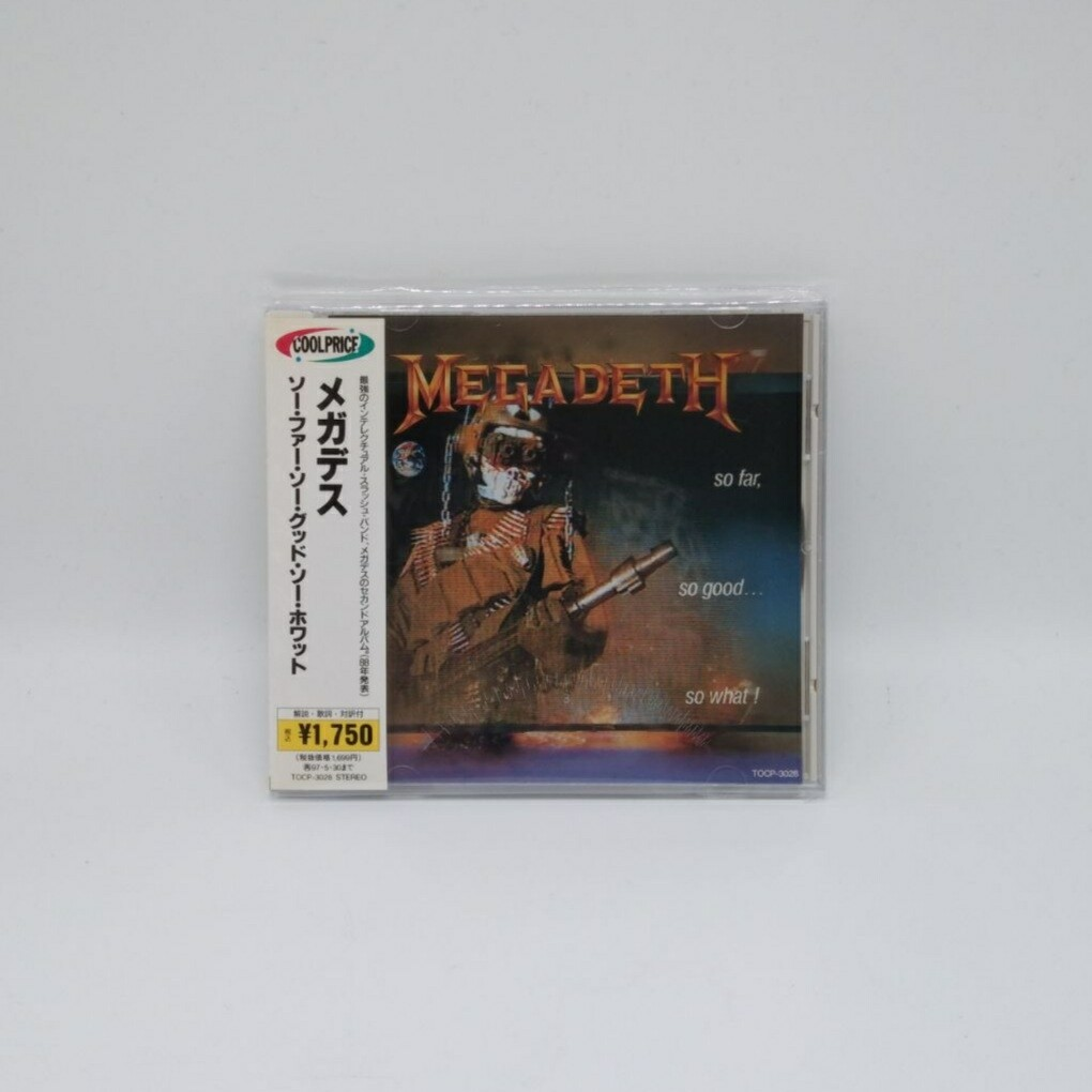 [USED] MEGADETH -SO FAR SO GOOD SO WHAT?- CD (JAPAN PRESS)