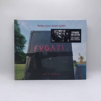 THE FUGAZI PHOTOGRAPHS OF GLEN E. FRIEDMAN AND FUGAZIS IAN MACKAYE -KEEP YOUR EYES OPEN- BOOK