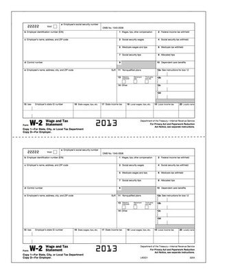 W-2 Form #5204 (Pkg. of 100 Forms)