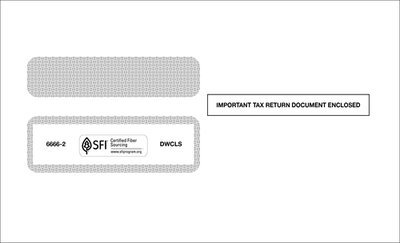 Self-Seal W-2 Envelope #6666-2 (Set of 100)