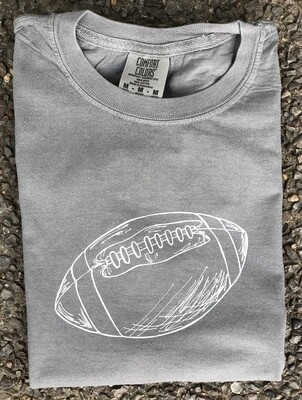 Football Sketch Gray Tee