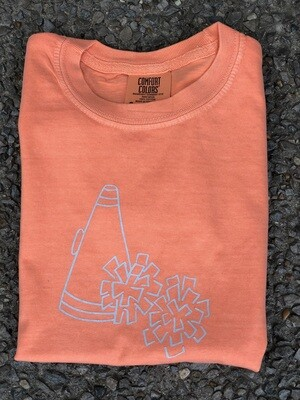 Megaphone Sketch Orange Tee