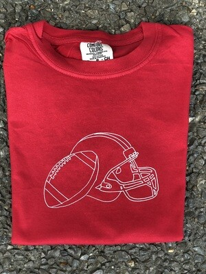 Helmet Sketch Red Tee