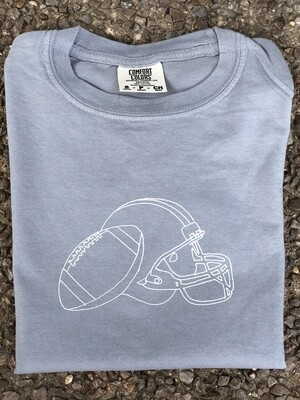 Helmet Sketch Gray Tee