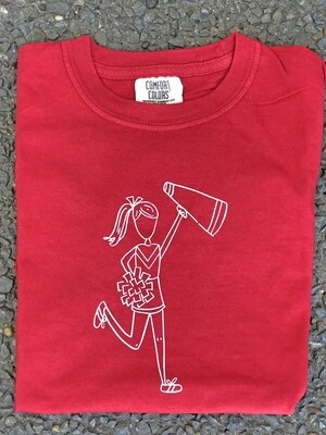 Cheerleader Sketch Red Tee