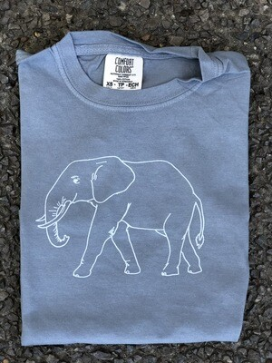 Elephant Sketch Gray Tee