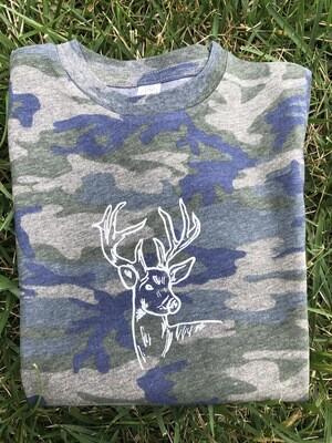 Deer Sketch Camo Tee