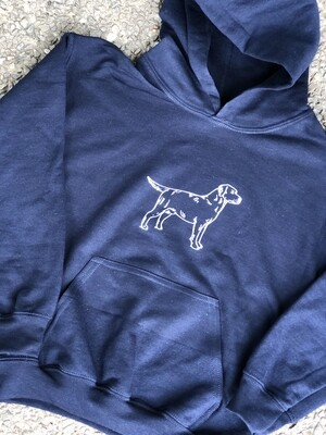 Navy Hooded Sweatshirt- Dog