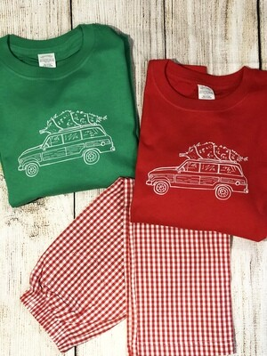 Station Wagon long sleeve sketch tee