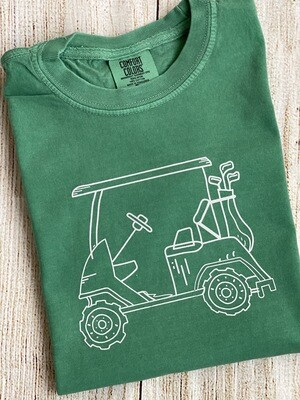 Golf Cart on 'Grass' Sketch tee
