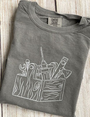Toolbox Sketch on 'Grey' Tee