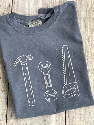 Tools Sketch on 'Blue Jean' Tee