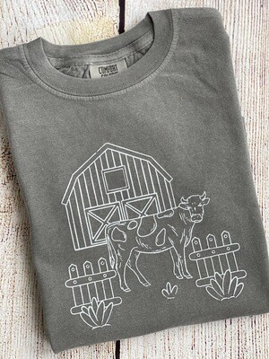 Farm Life on 'Grey' Tee