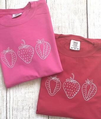 Strawberry Trio Sketch Tee