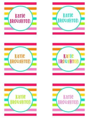 Happy Stripe Enclosure Cards