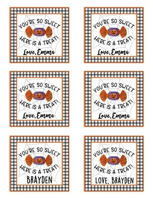 You're Sweet Halloween Enclosure Cards