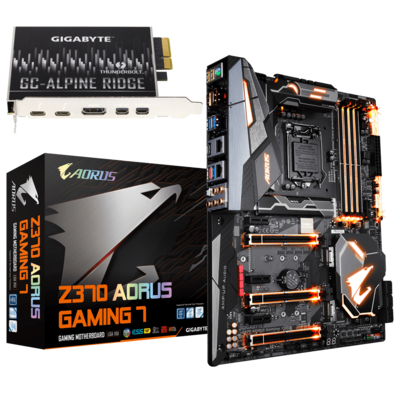 Aorus Z370 Gaming Plus with Alpine Thunderbolt Card (Big Sur Tested & Catalina, Use with RX 500 Series Graphic Cards)