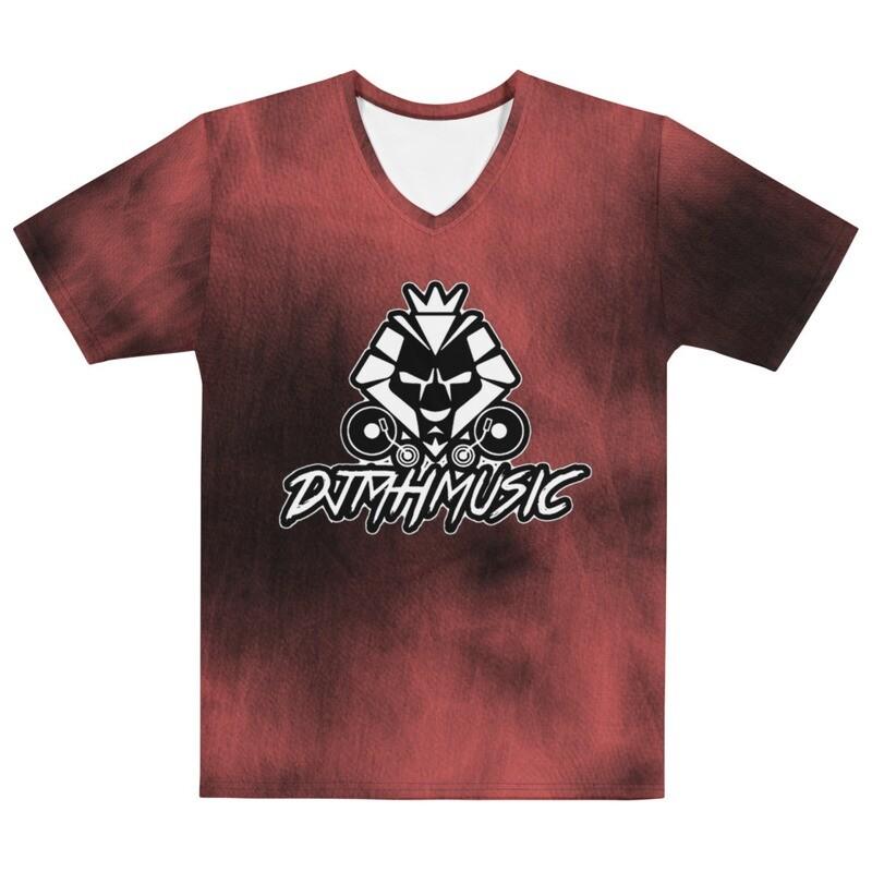 Red Acid Wash Logo Men's T-shirt