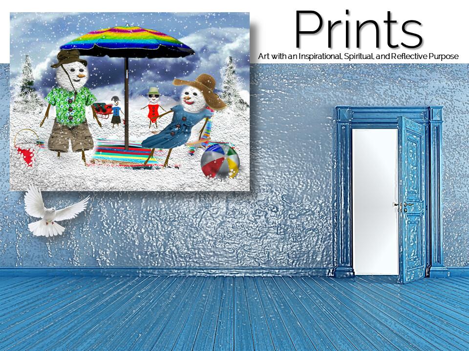A Frosty Holiday Prints