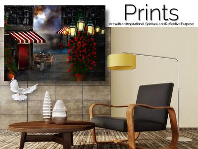 Cafe della Rosa Prints