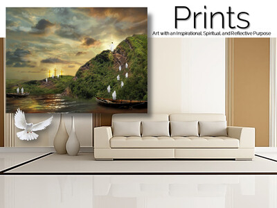 Ascension of The Man of Galilee Prints