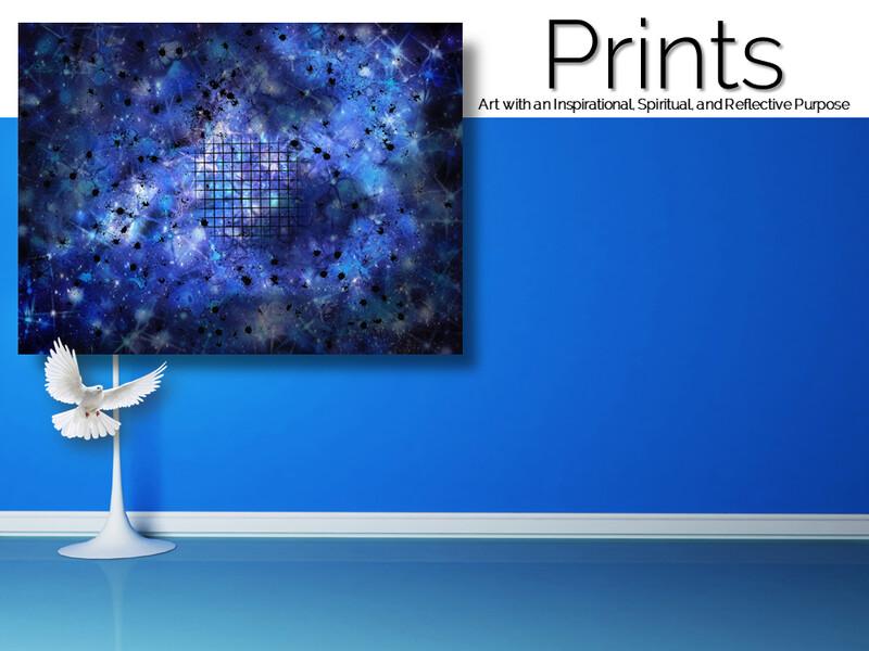 Blue Coordinates Prints