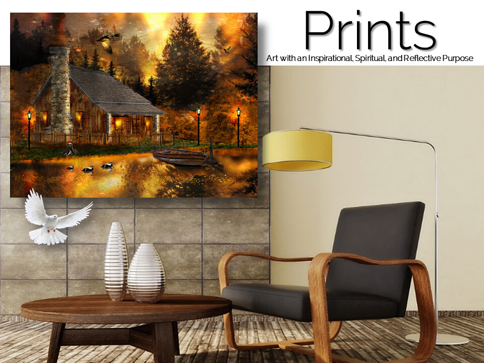 Afterglow Cabin Prints