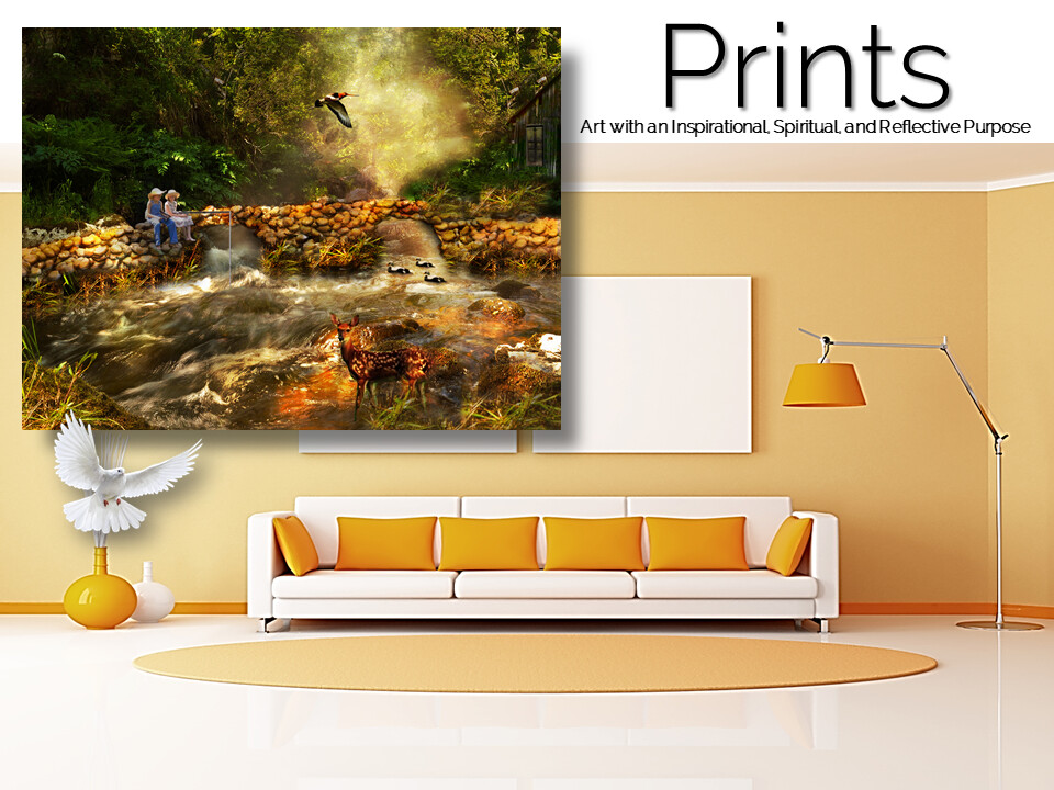 Afternoon by The Stream Prints