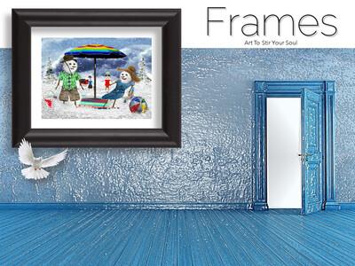A Frosty Holiday Frames