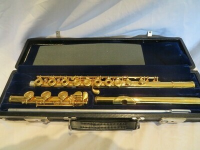 Artley Wilkins Open Hole Flute Gold Plated 1971
