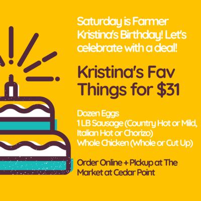 Kristina's Birthday Deal