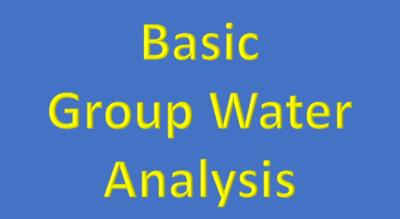 Basic Group Water Analysis